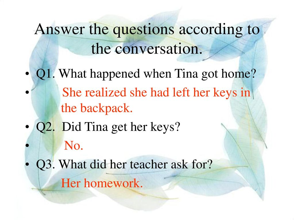 Answer the questions according to the conversation.