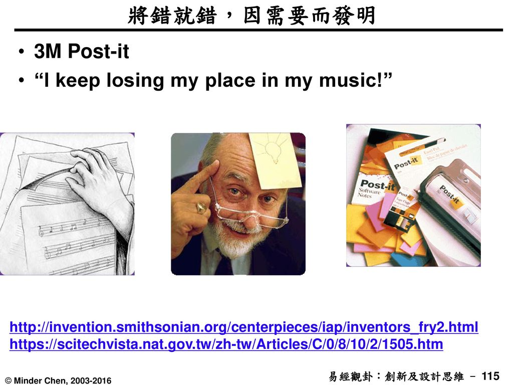 將錯就錯,因需要而發明 3M Post-it I keep losing my place in my music!