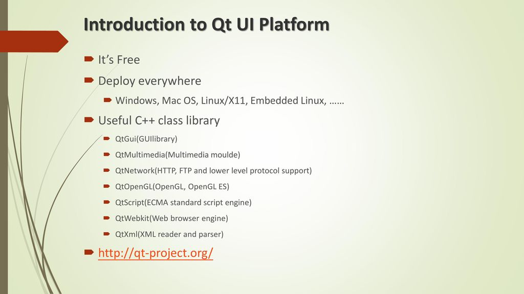 Introduction to Qt UI Platform