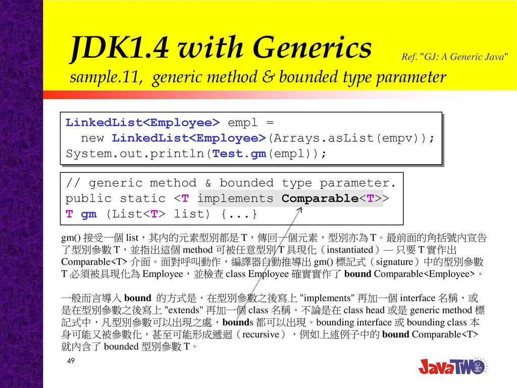 Add Generics to the Java Programming (with JDK1 4) - ppt