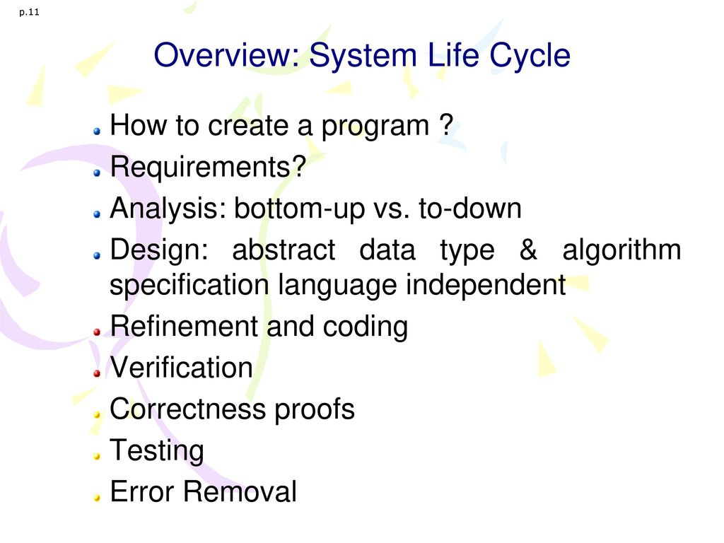 Overview: System Life Cycle