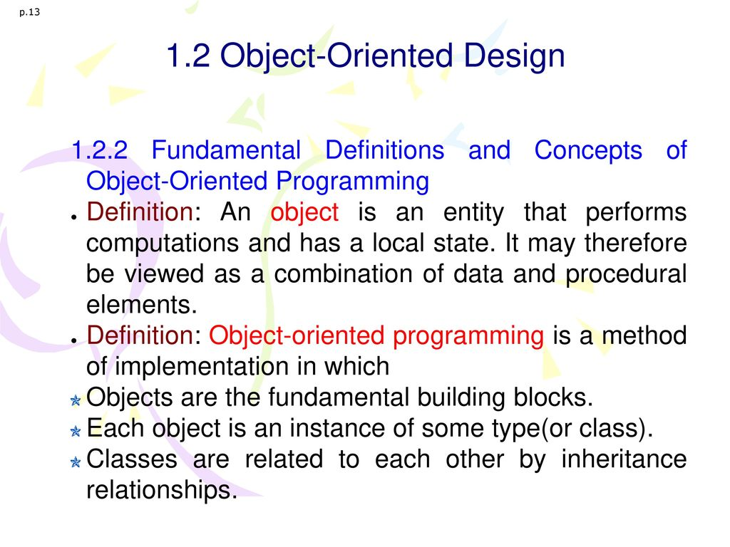 1.2 Object-Oriented Design