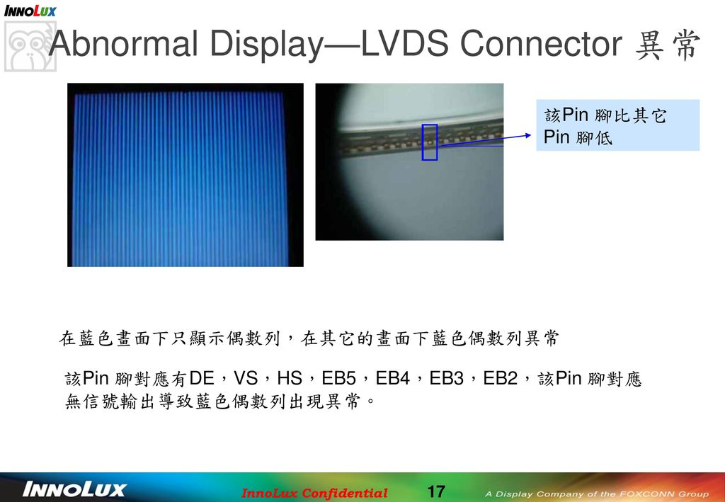 Abnormal Display—LVDS Connector 異常
