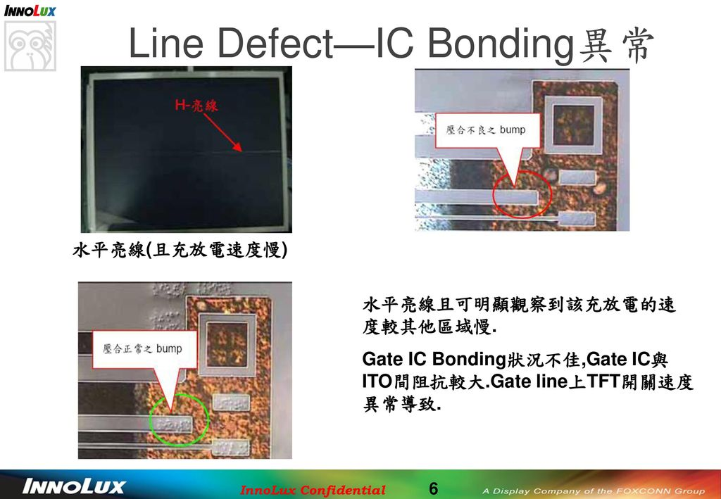 Line Defect—IC Bonding異常