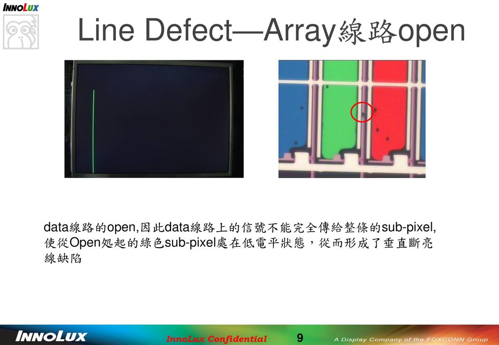 Line Defect—Array線路open
