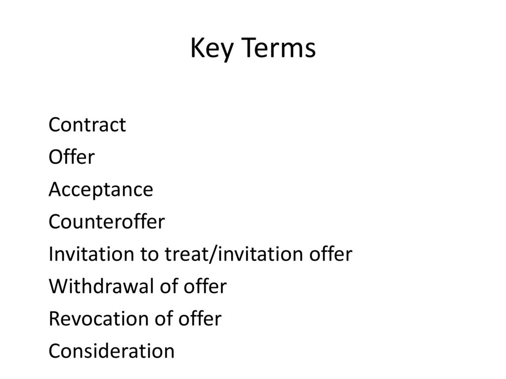 invitation to treat or offer Invitation to treat (or invitation to bargain in the united states) is a contract law term it comes from the latin phrase invitatio ad offerendum and means an inviting an offer or as andy burrows writes, an invitaton to treat is.