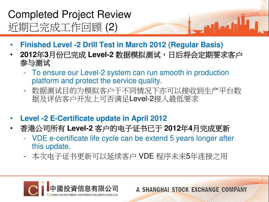 Completed Project Review 近期已完成工作回顾 (2)