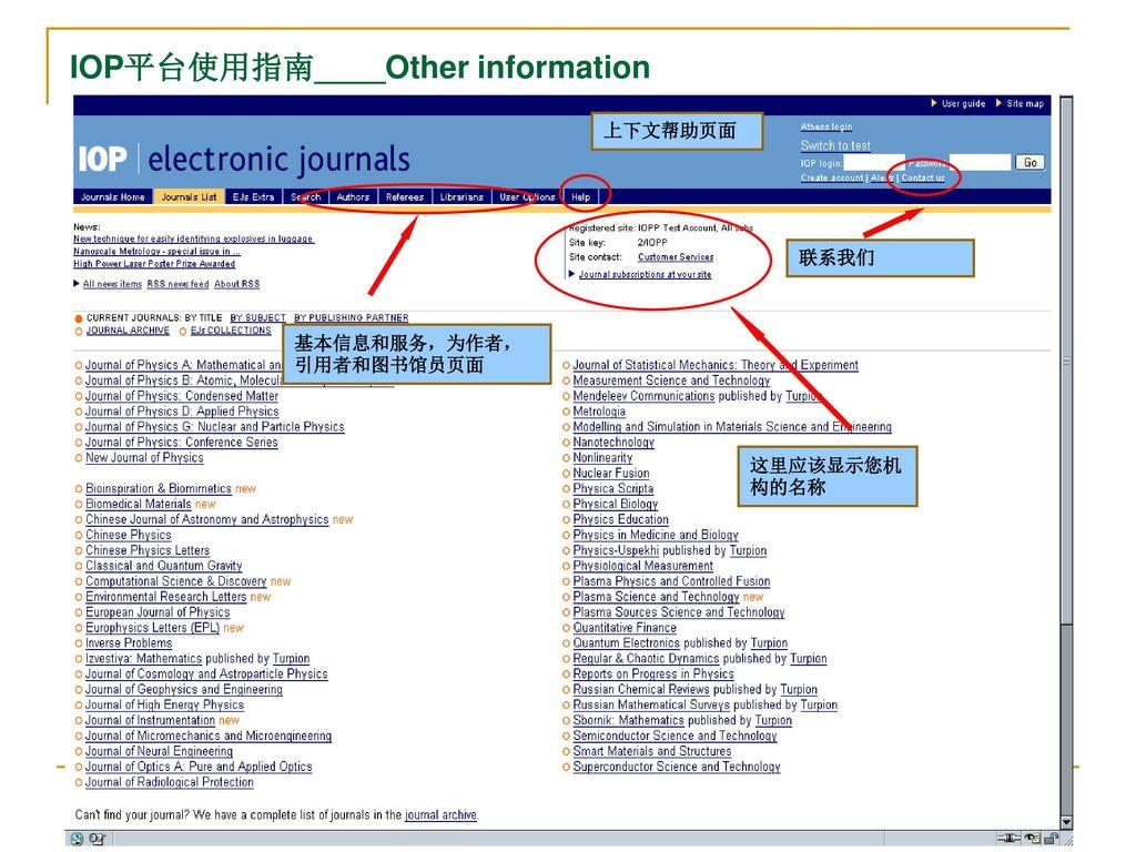 英国物理学会(IOP)出版社期刊介绍及其使用指南- ppt download