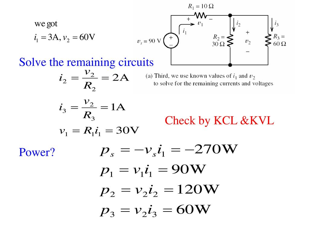 Solve the remaining circuits