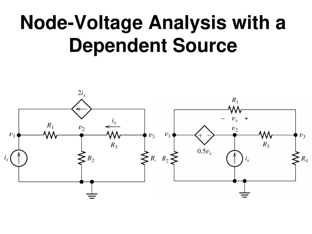 Node-Voltage Analysis with a Dependent Source