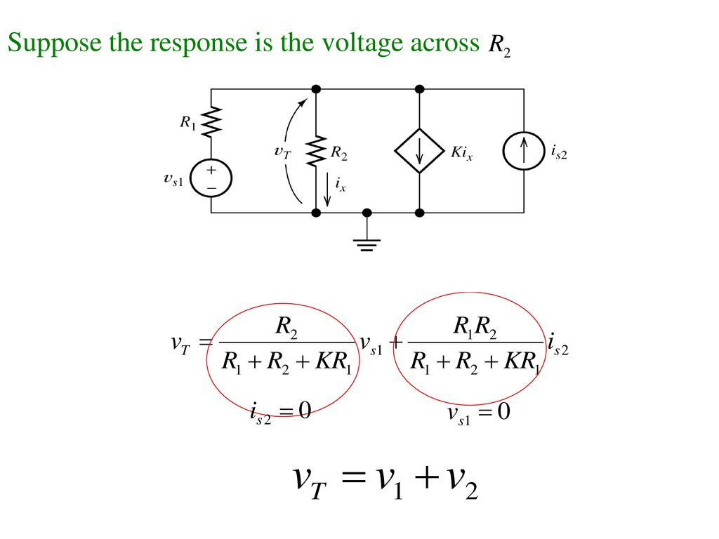 Suppose the response is the voltage across