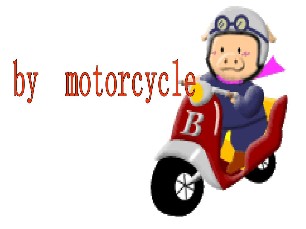 by motorcycle