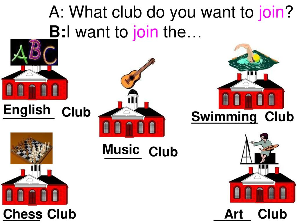 A: What club do you want to join B:I want to join the…