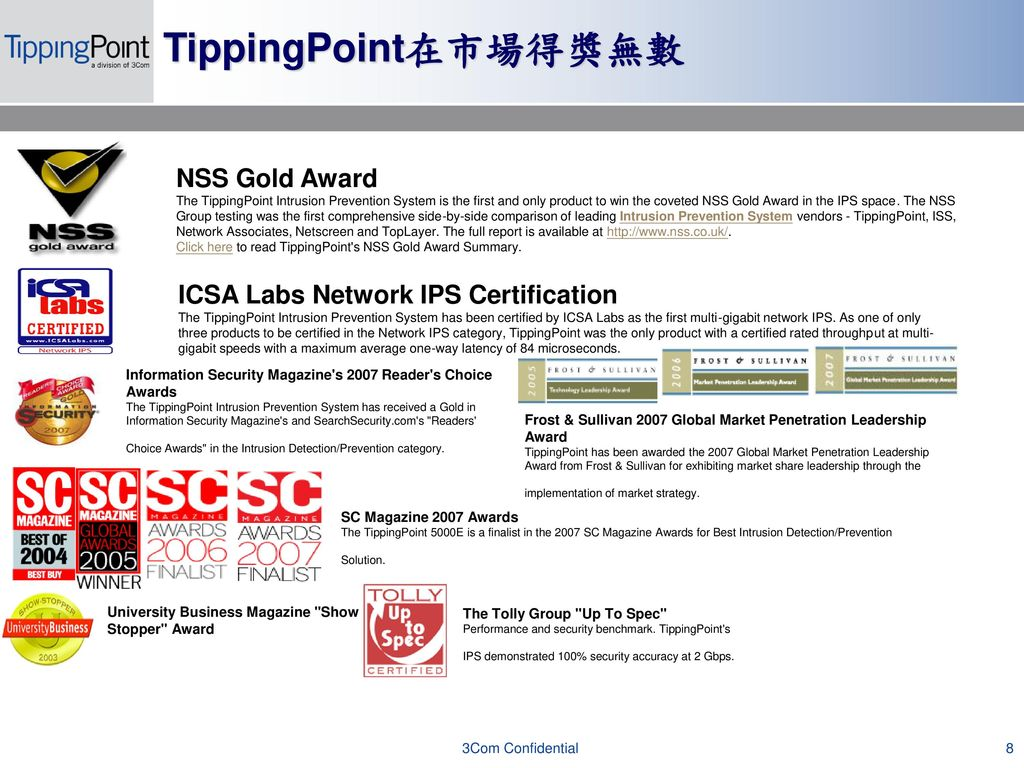IPS領導品牌TippingPoint 產品介紹與市場攻略- ppt download