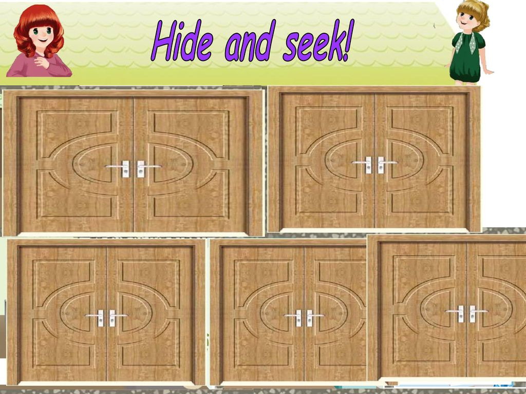 Hide and seek! bag egg drive a car bag classroom three bedroom study