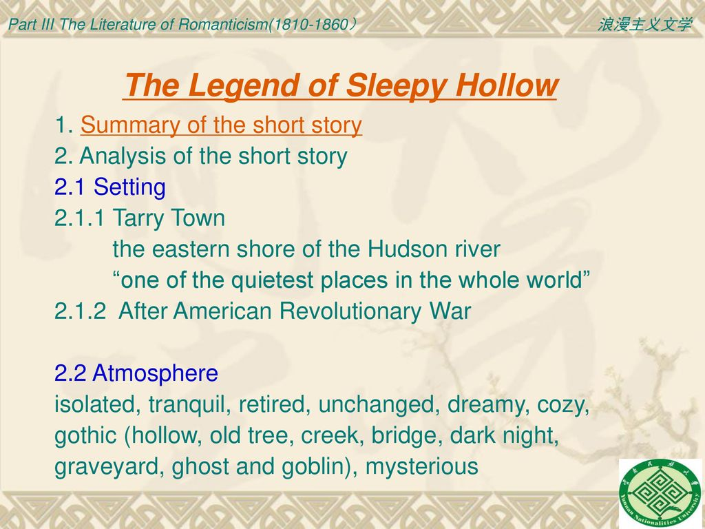 sleepy hollow short story summary