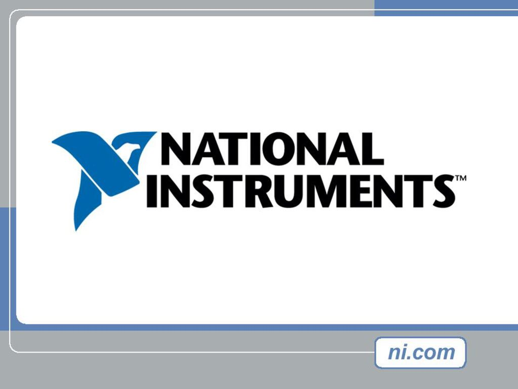Welcome to NI Advanced LabVIEW Programming seminar! - ppt download