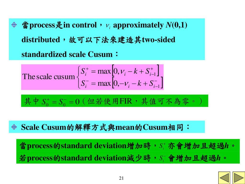 Shewhart control chart:只用在最後畫的點關於- ppt download