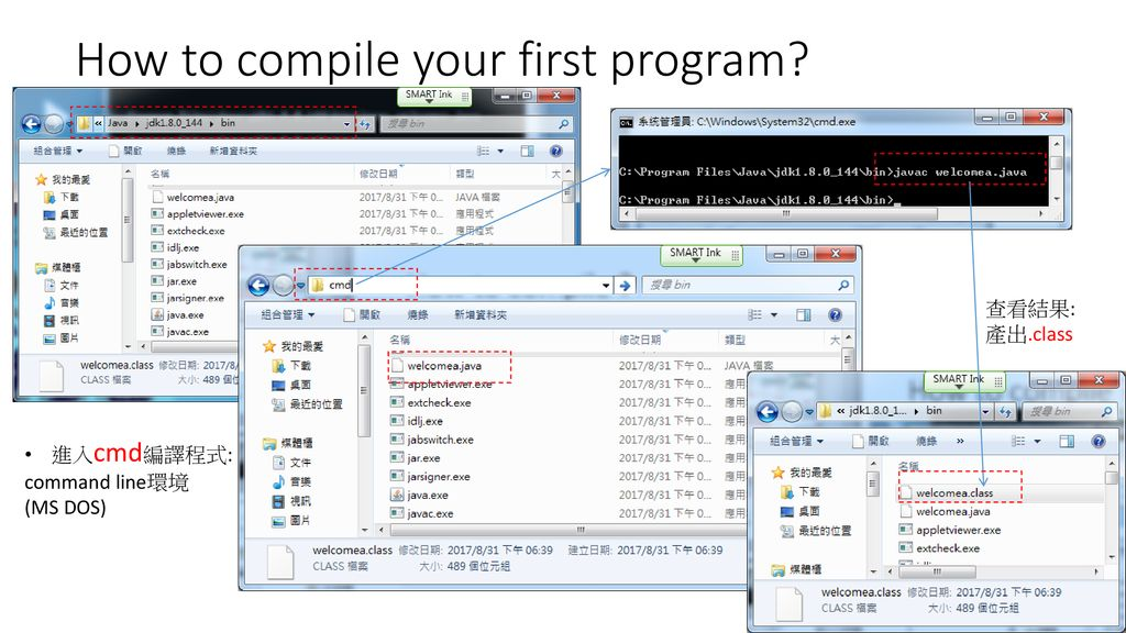 How to compile your first program