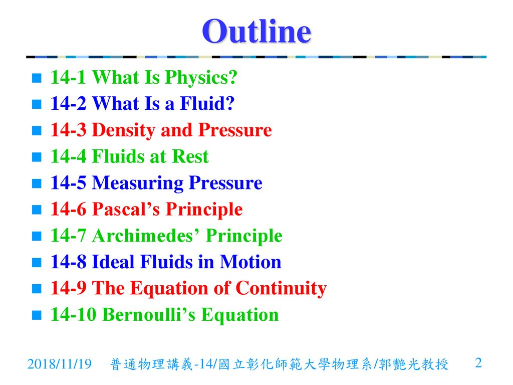 普通物理General Physics 14 - Fluid Statics and Dynamics - ppt download