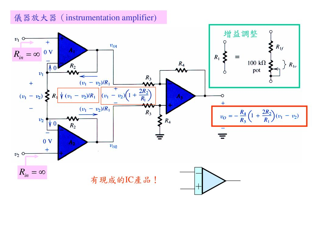 儀器放大器(instrumentation amplifier)