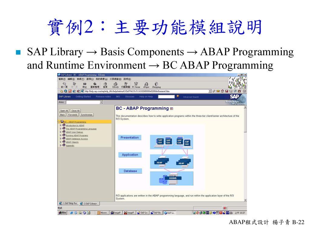 SAP R/3架構及前端軟體安裝Logical View of the R/3 System SAP