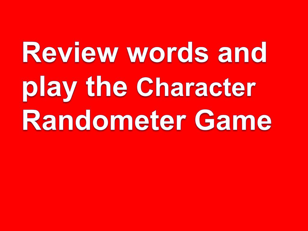 Review words and play the Character