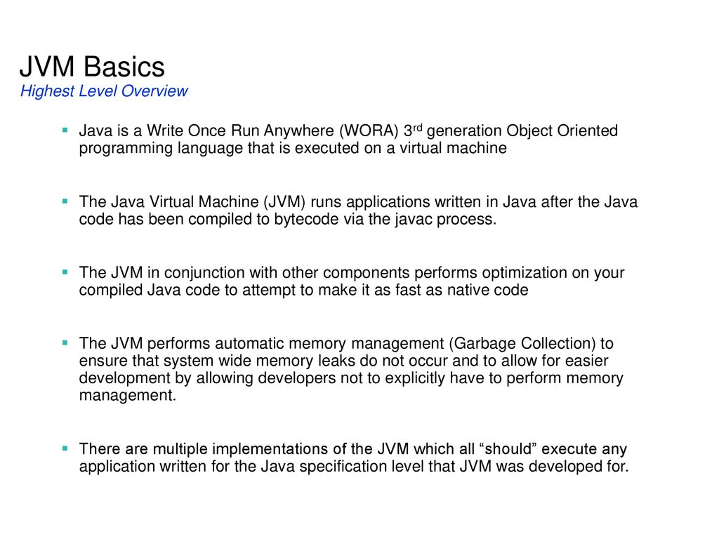 Java虚拟机分析与优化  - ppt download