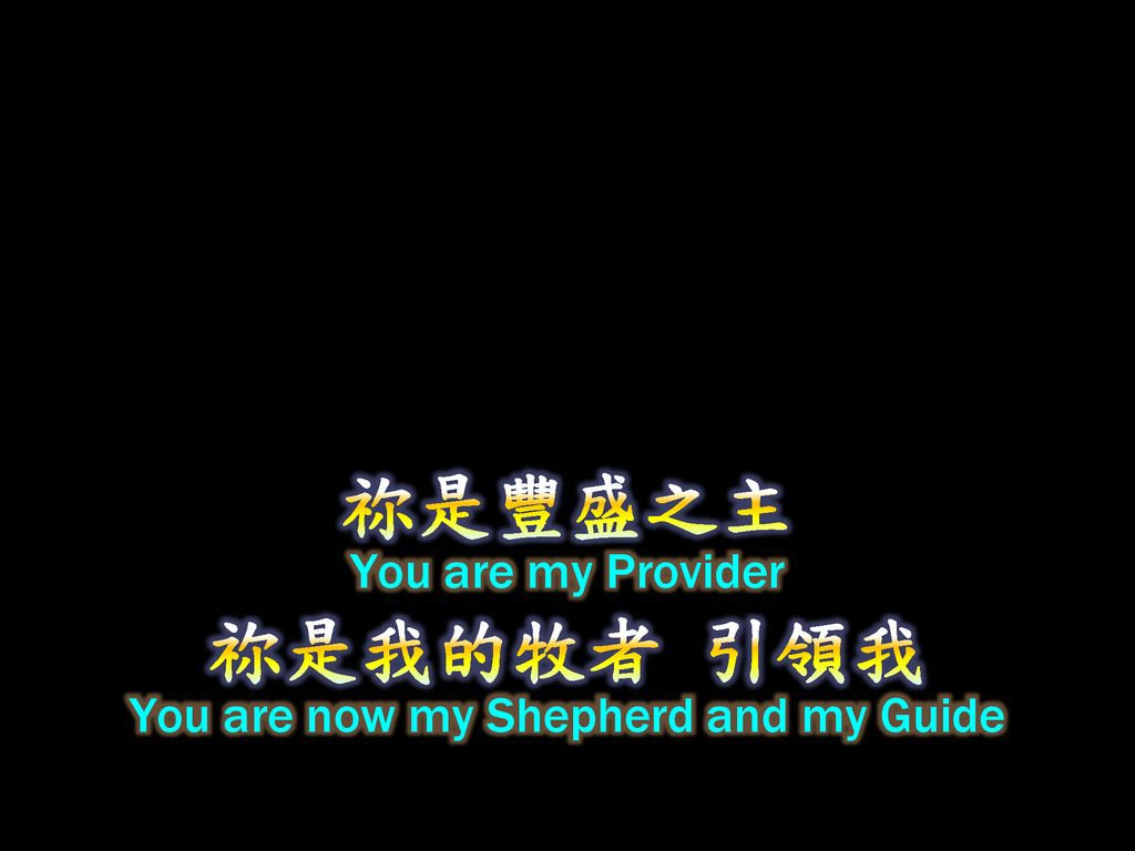 You are now my Shepherd and my Guide