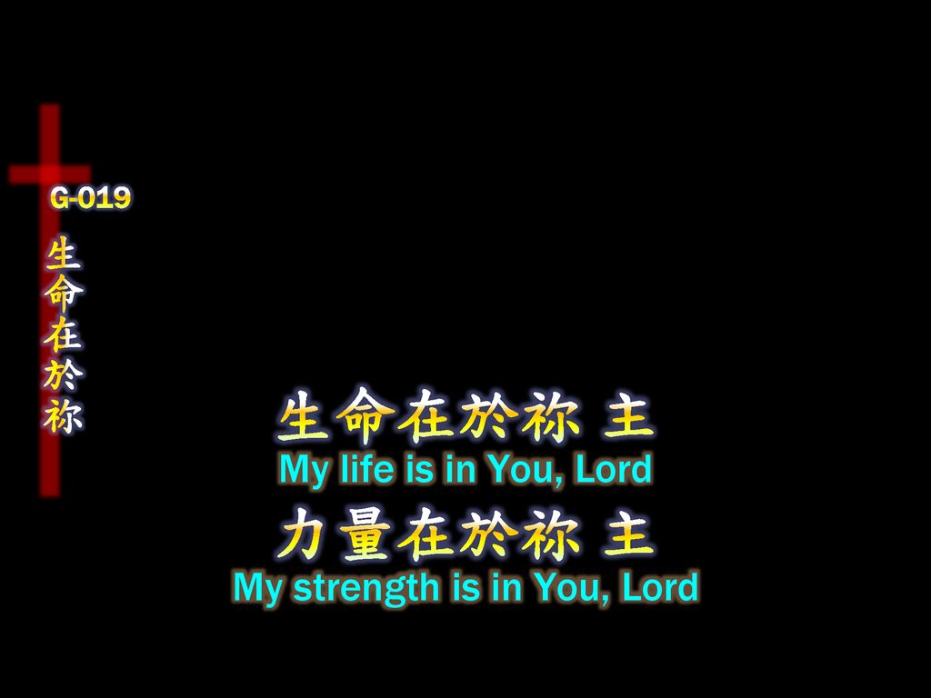 My strength is in You, Lord