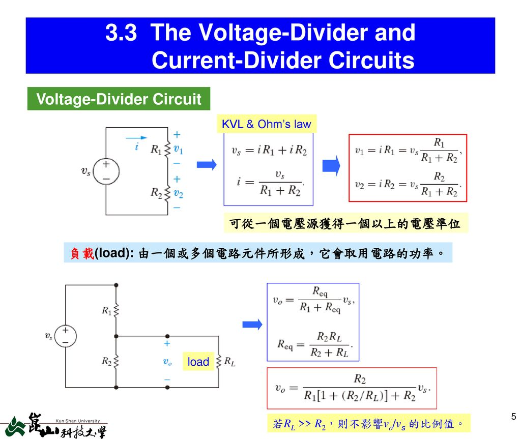 Chap 3 Simple Resistive Circuits Ppt Download Current Divider 33 The Voltage And