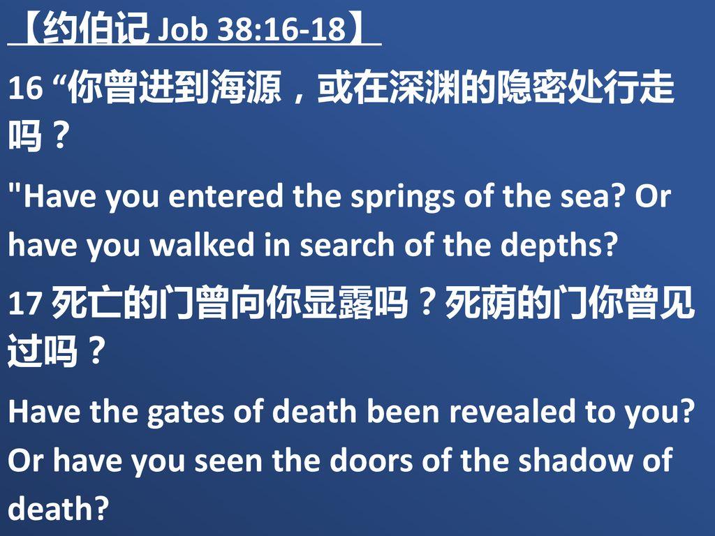 Image result for 你曾进到海源么? (伯38: 16)